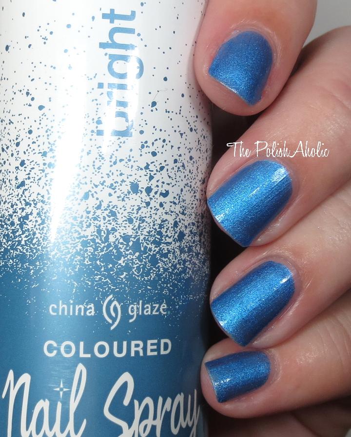 The PolishAholic: China Glaze Bright Blue Nail Spray Swatch, Review ...
