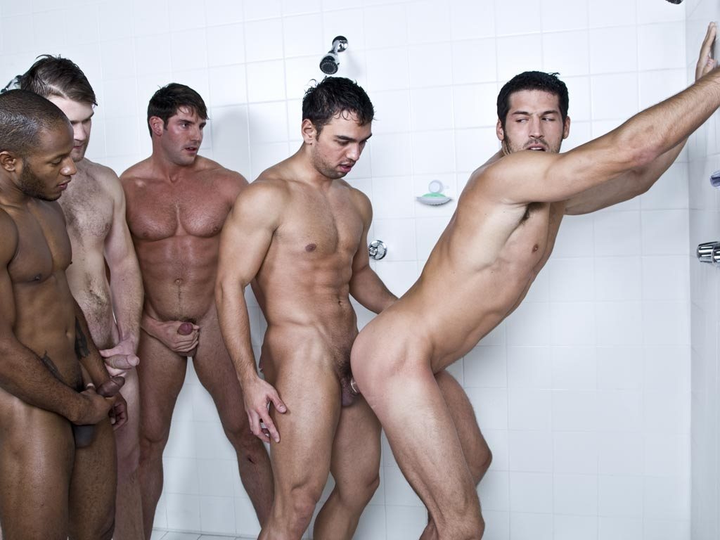 Gods Amongst Men Locker Room Orgy-6116