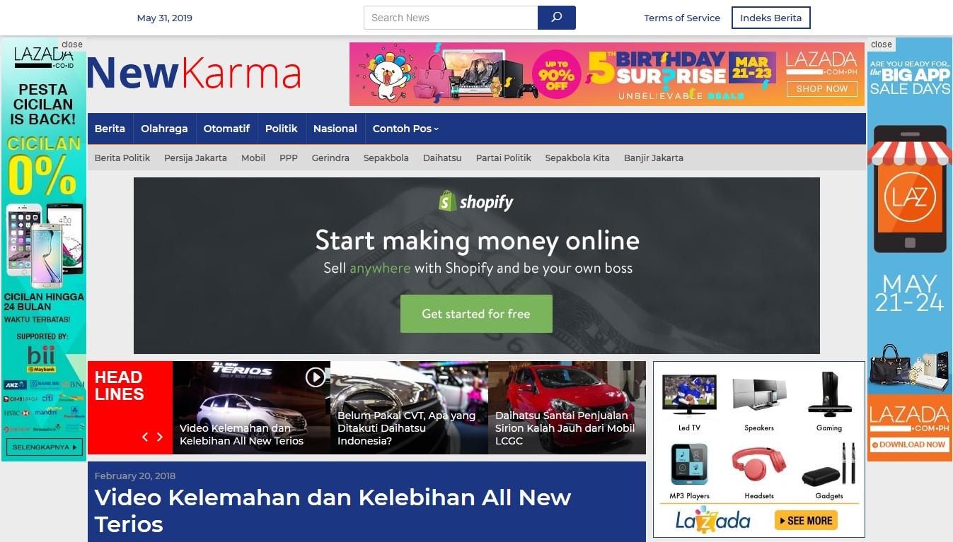 Newkarma: Theme WordPress Khusus Website Magazine, Berita atau News Indonesia