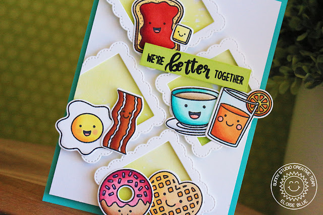 Sunny Studio Stamps: Breakfast Puns Better Together Card by Eloise Blue