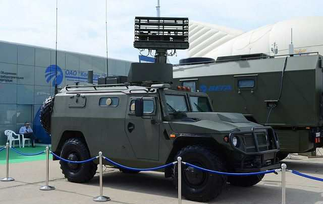 Image Attribute: Tigr 4x4 armored vehicle fitted with 1L122 radar at Oboronexpo 2014, defense exhibition in Moscow, Russia./ Source: armyrecognition.com