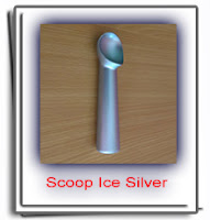 scoop alumunium silver ice cream