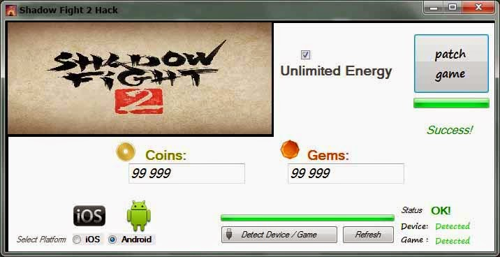 shadow fight 2 hack version unlimited money and gems