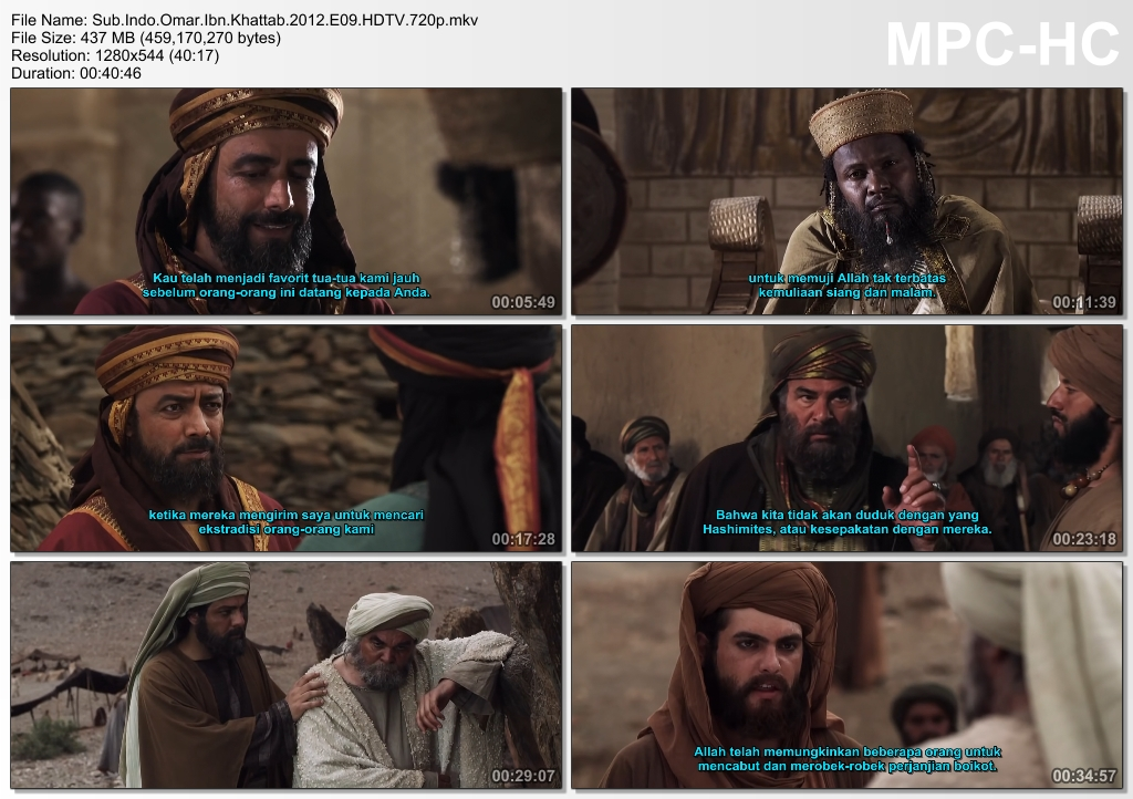 Screenshots Download Film Gratis Omar aka Farouk Omar aka Omar Ibn Al-Khattab (2012) HDTV 720p X265 HEVC Subtitle Indonesia MKV Nonton Film Gratis Free Full Movie Streaming