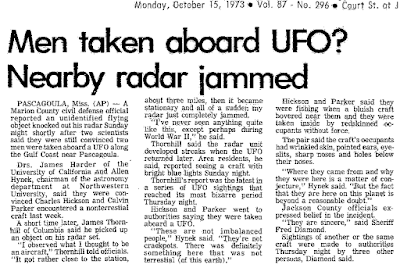 Pascagoula UFO Incident: Men Taken Aboard UFO? Nearby Radar Jammed