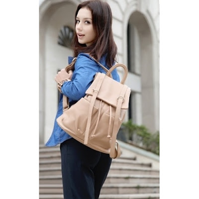 HB3238 BACKPACK - BEIGE
