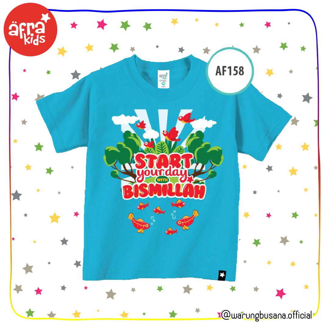 Afrakids Kaos Anak AF158 Start Your Day With Bismillah