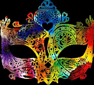Mascara de carnaval cheia de cor 1 png