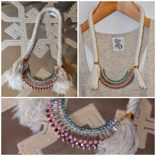 GLAM CORD. Gargantillas con rhinestones y cuerda / Chockers with rhinestones and cord