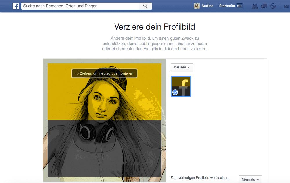 schwarzes profilbild facebook 2016 anmeldung facebook