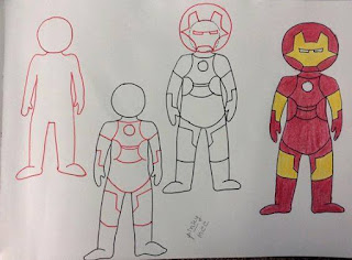 dibuja caricaturas iron man