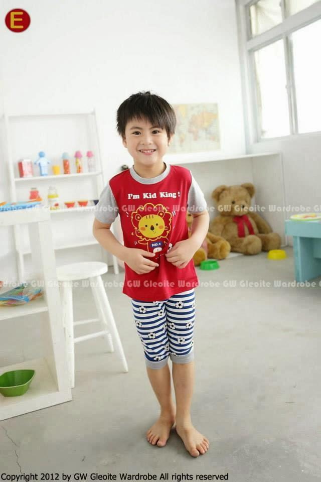Dress Anak Red White Rose Setelan GW 50 Pendek untuk Anak