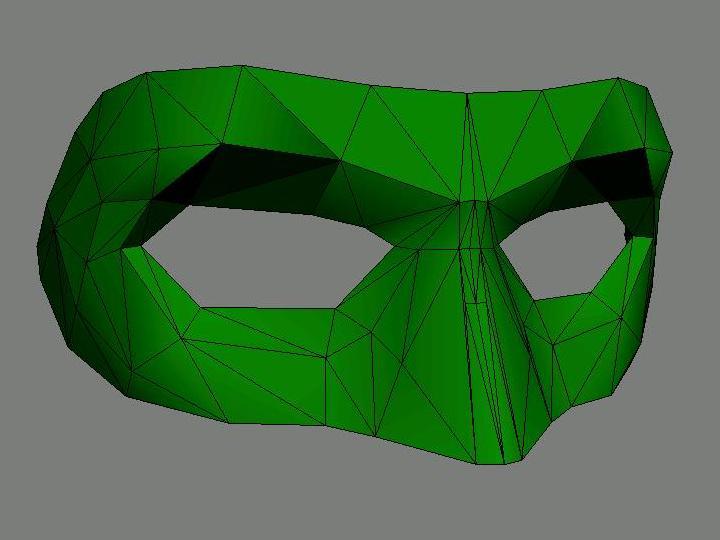 papercraft green lantern mask tektonten papercraft