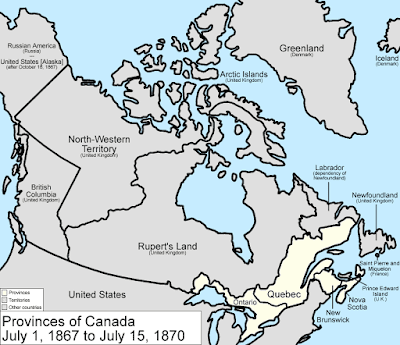 Map Of Canada July 1 1867.Big Blue 1840 1940 April 2019