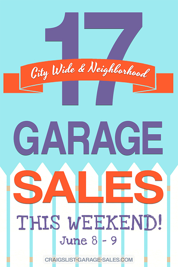 City Wide & Neighborhood Garage Sales in Oklahoma on June 9th
