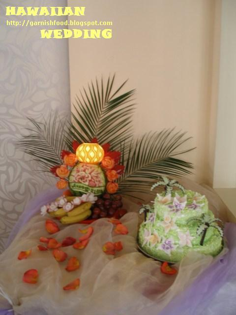 hawwaiian wedding fruit buffet