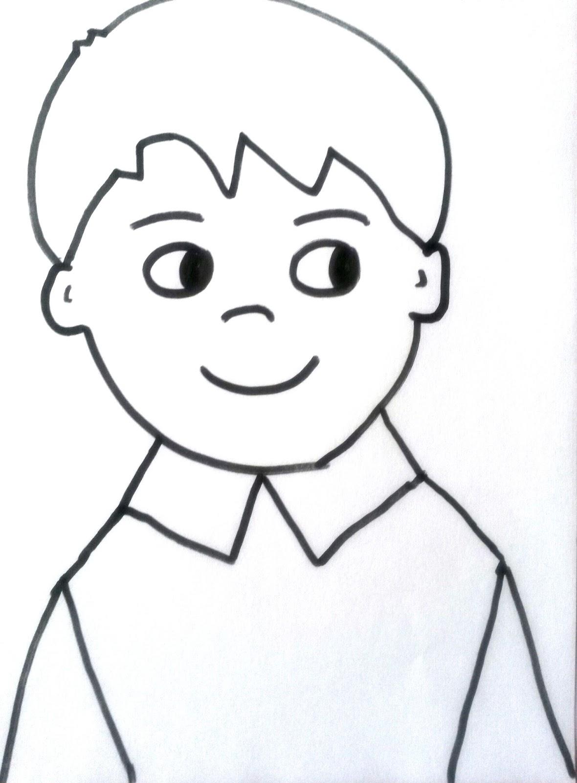 Okulöncesi Boyama Sayfası Erkek çocuk