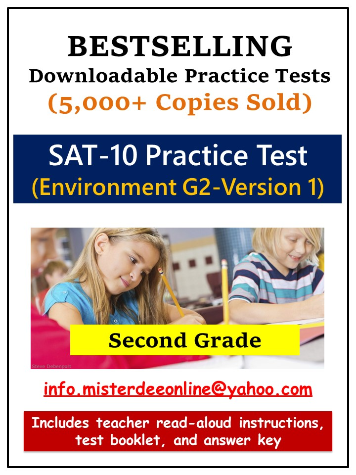 Downloadable SAT 10 Practice Tests For KG 2 SAT 10 Practice