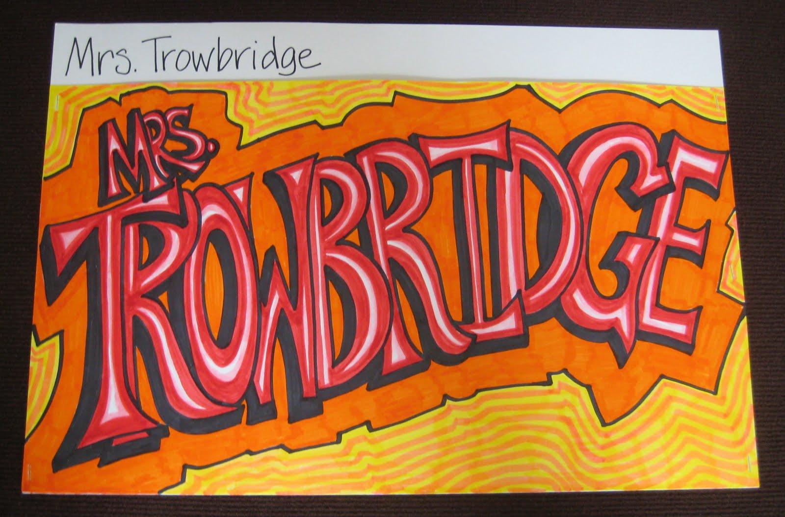 Portfolio project for middle school graffiti names
