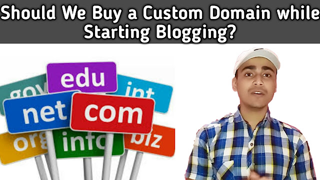 Should You buy a custom domain while starting blogging ?