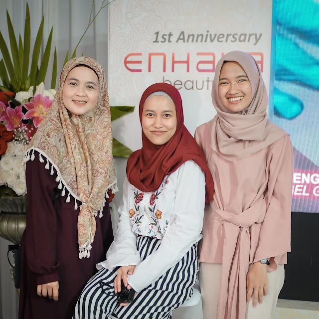Hijab Influencers Network di Anniversary Enhaka Beauty Care