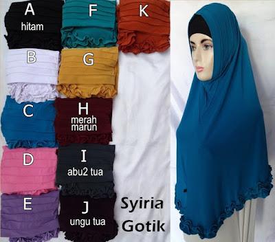 Grosir Jilbab Syiria Gotik