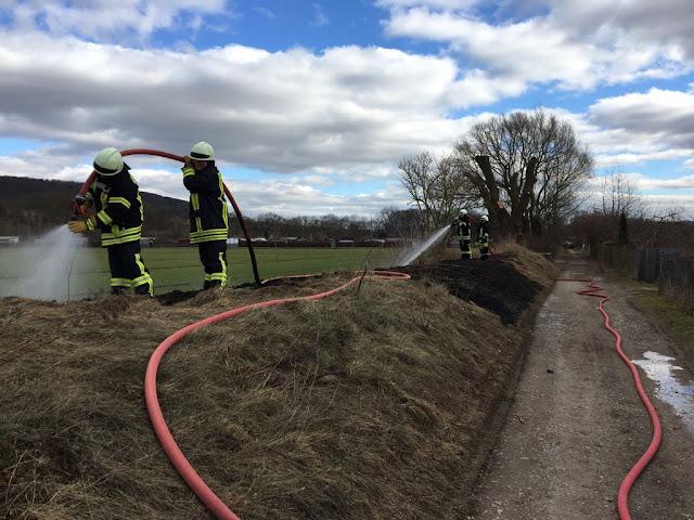 """Flächenbrand Unterlache in Richtung Kleingartenanlage """"Frieden"""""""