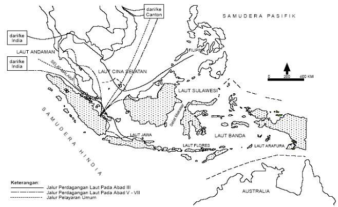 Peta Jalur Perdagangan Laut di Kawasan Asia Tenggara
