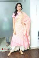 Actress Ritu Varma Pos in Beautiful Pink Anarkali Dress at at Keshava Movie Interview .COM 0053.JPG