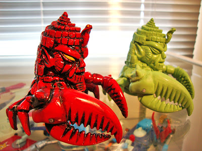 King Jinx Red and Green Resin Figures by Paul Kaiju