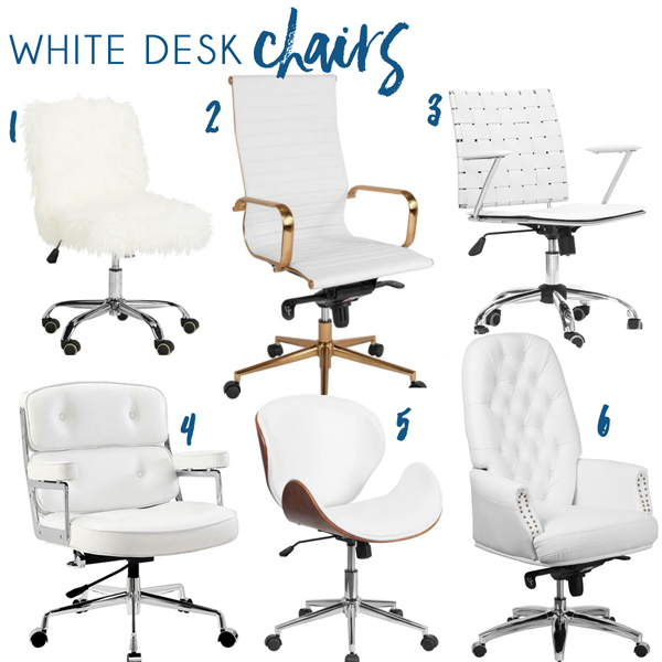 White Desk Chairs from Home Depot