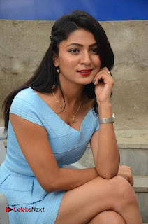 Ankita Jadhav Pictures in Blue Short Dress at Cottage Craft Mela    ~ Bollywood and South Indian Cinema Actress Exclusive Picture Galleries