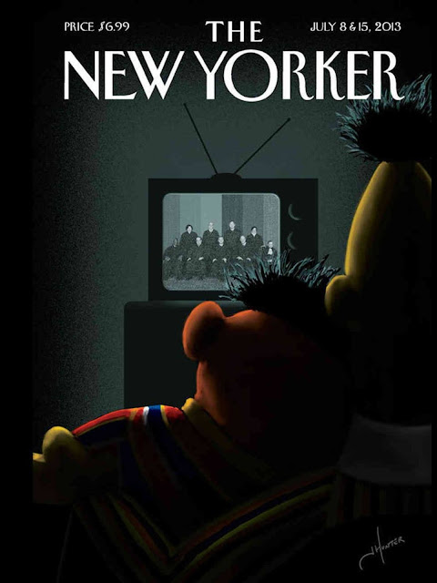 """Moment of Joy"" cover by Jack Hunter for The New Yorker (July 8 & 15, 2013) after the Supreme Court ruled against DOMA and Proposition 8 (June 26, 2013)"