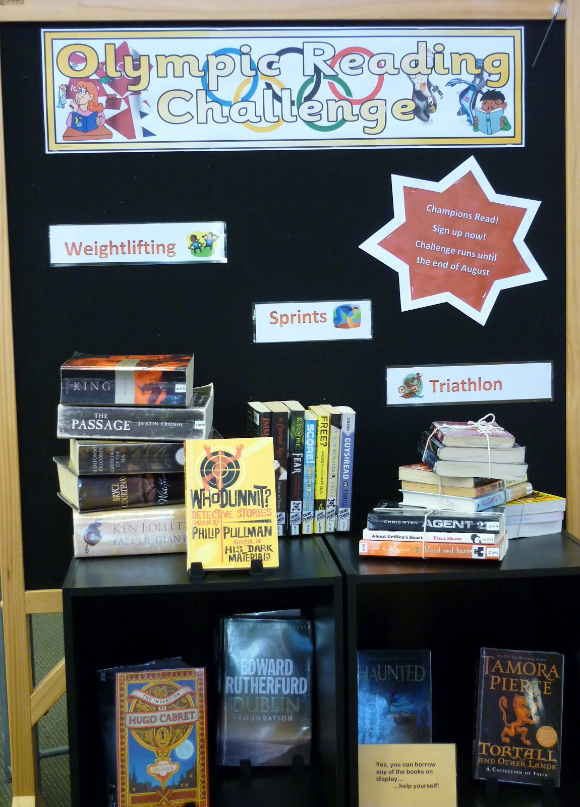 Library Displays Olympic Reading Challenge