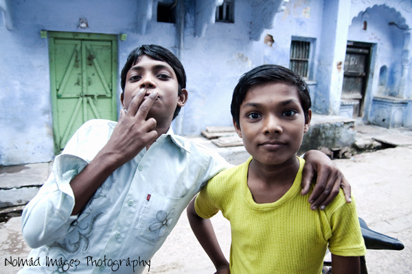 indian kids having fun on the streets