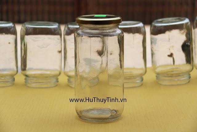 Hu thuy tinh dung mat ong 1 lit