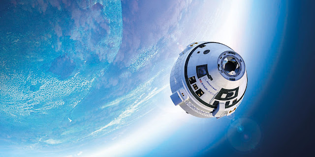 Image Attribute: Boeing's Starliner spacecraft is due to carry crew to the International Space Station. REUTERS/Handout via Boeing