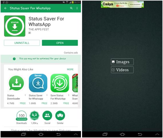 Cara download status story WhatsApp menggunakan aplikasi