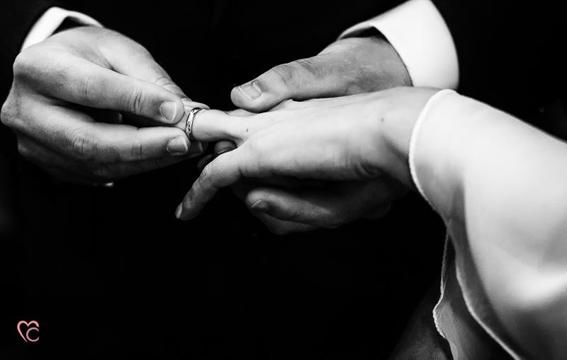 Matrimonio di Alessia e Fabio,scambio delle fedi