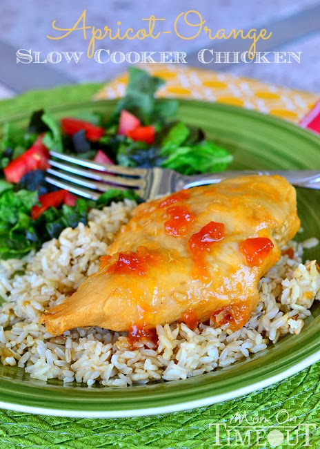 Apricot-Orange Slow Cooker Chicken from momontimeout.com
