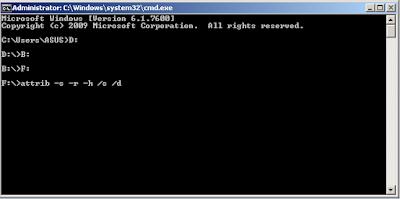 Cara Menghapus Virus Shortcut Tanpa Software Dengan CMD