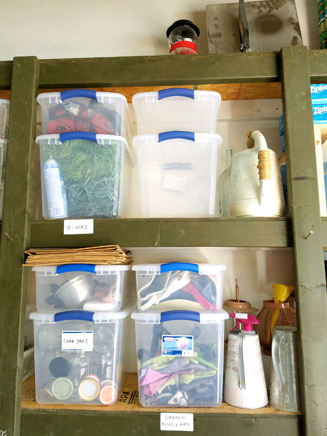 How to keep your garage shelves organized