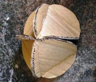 3 merangkai kardus jadi bola 3 dimensi