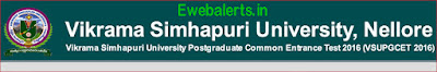 VSU PGCET Notification