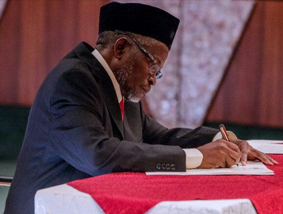 A constitutional crisis looms as Tanko's tenure ends in three weeks.