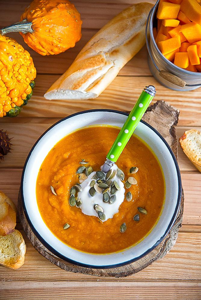 Rozgrzewająca zupa - krem z dyni