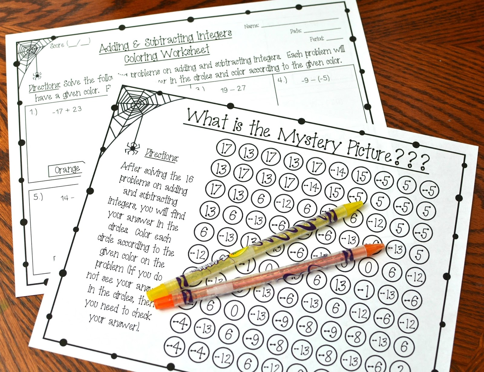 Math Coloring Worksheets Math Color By Number