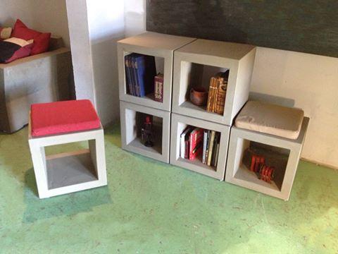 Muebles en cemento light estilo ribera - Muebles con ladrillos ...