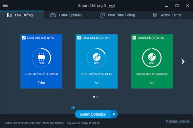 IObit Smart Defrag Pro 5.5 + Keys.zip