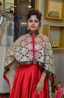Anya South Actress model in Red Anarkali Dress at Splurge   Divalicious curtain raiser ~ Exclusive Celebrities Galleries 009.JPG